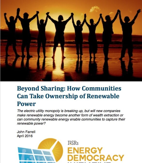Report: Beyond Sharing – How Communities Can Take Ownership of Renewable Power