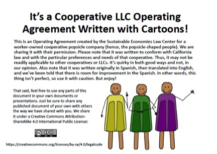 Cartoon Operating Agreement for a Worker Coop LLC