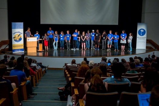 NEC staff on stage during the final CommonBound 2016 plenary
