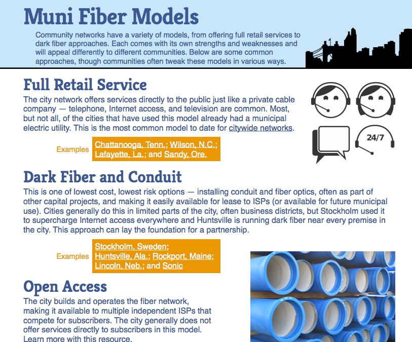 Municipal Fiber Models Factsheet
