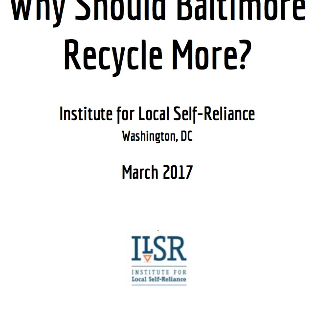 Why Should Baltimore Recycle More?