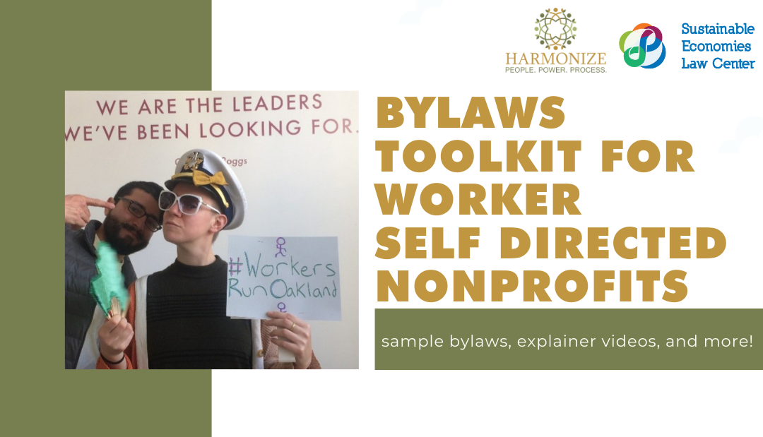 Bylaws Toolkit for Worker Self-Directed Non-Profits