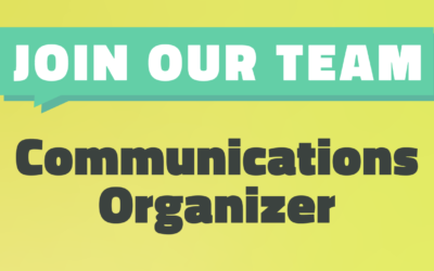 We're Hiring! Apply to be NEC's Communications Organizer