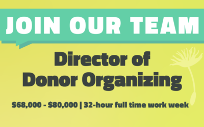 We're Hiring a Director of Donor Organizing!